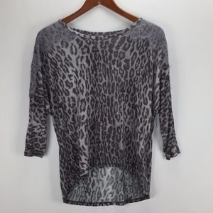 Rachel Roy Womans Leopard Print Blouse